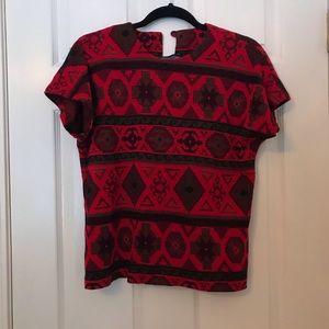 🌿 vintage red top